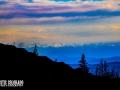 Sunset over the Sangre de Cristo Mountains