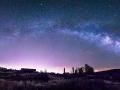 Milky Way over the Vindicator Mine in Victor